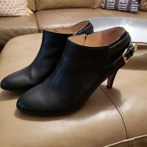 UNISA BLACK LEATHER/SUEDE BOOTIES